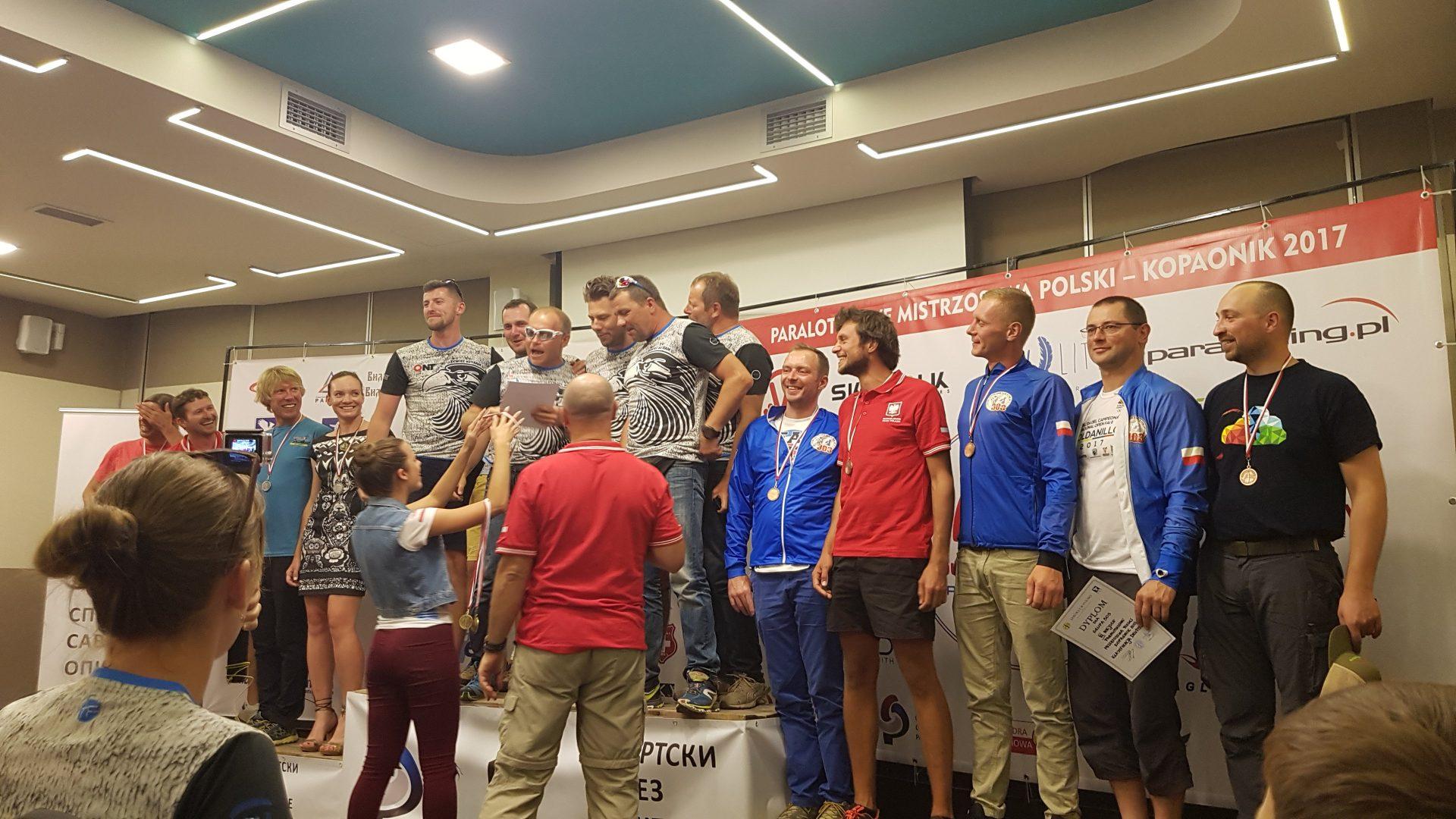 Paralotniowe Mistrzostwa Polski 2017 - zwycięskie druzyny