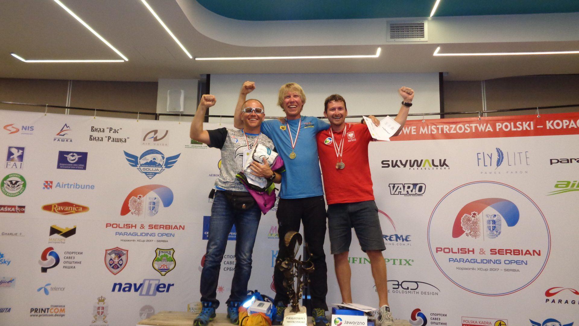 Paralotniowe Mistrzostwa Polski 2017 - zwycięzcy