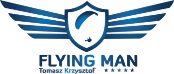 flying man logo